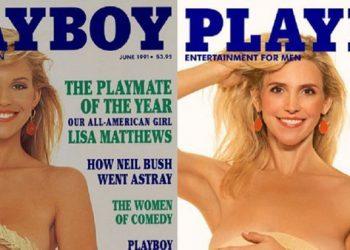 Девушки Playboy вспомнили молодость (8фото)