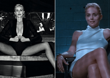 «Fuckable»: Шерон Стоун обнажилась для новой обложки Vogue, повторив позу из «Основного инстинкта» (5фото)
