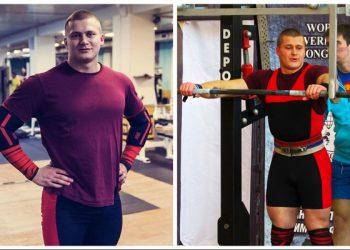 На чемпионате Евразии по пауэрлифтингу спортсмен Ярослав Радашкевич получил жуткую травму (6 фото)