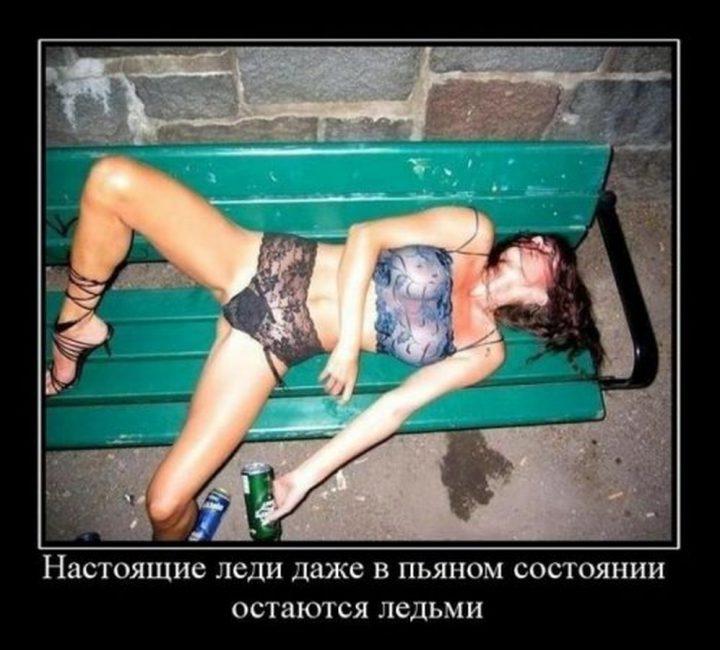 пошло, но прикольно: настоящие леди даже в пьяном состоянии остаются ледями