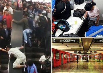 Авария на эскалаторе в Мехико (7фото+1видео)
