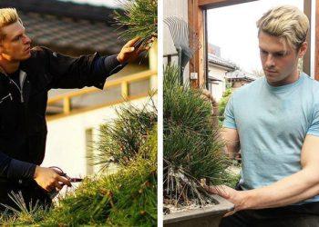Cлишком красивый шведский садовник, принявший гражданство Японии (13фото)
