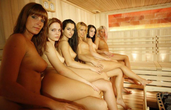 шесть красавиц обнажили свои женские прелести