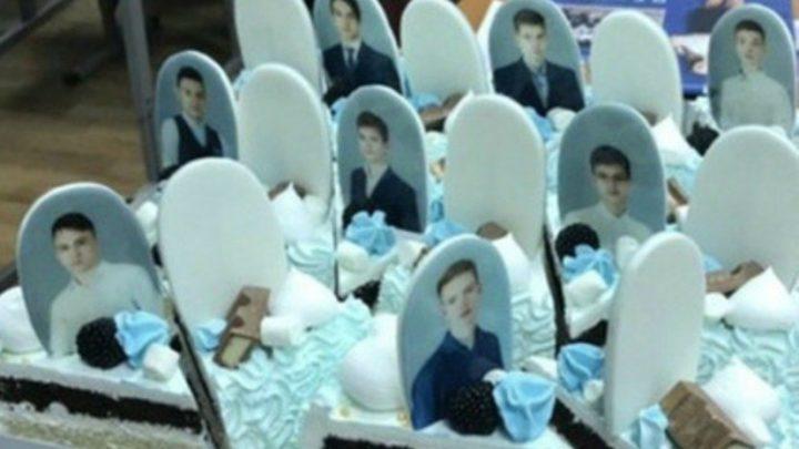 Выпускникам подарили торт с «надгробиями»