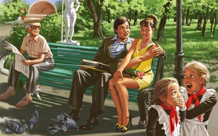 Советские плакаты в стиле пин-ап