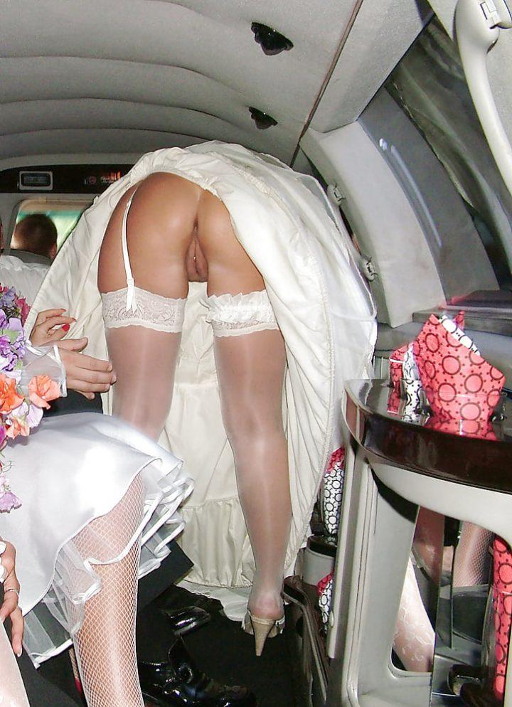 невеста без трусов в лимузине