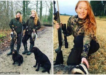 """""""Кровожадные стервы!"""": близняшек из Дании затравили за фото с охотничьими трофеями (15фото)"""