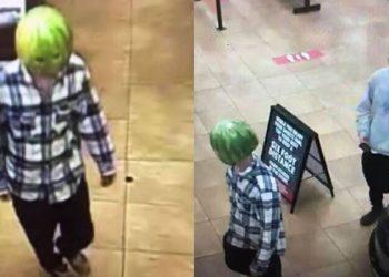 Преступники с арбузом на голове ограбили магазин в США (5фото)