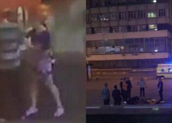"""У станции метро """"Царицино"""" подвыпившая дама расправилась с двумя кавалерами, убив их ножом (3 фото)"""