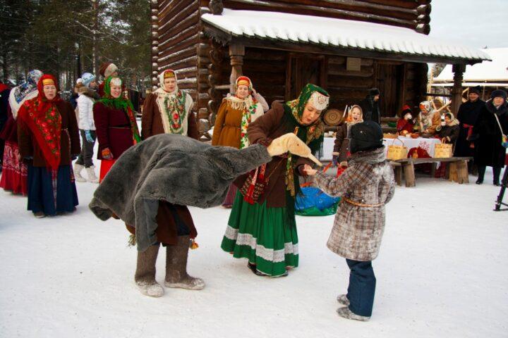 В деревне очень любят праздник колядки